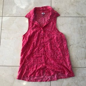 Splendid NWOT Pink Button Down Tank Size Small